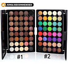 40 Color Eyeshadow Palette Mineral Matte Pigment Waterproof Eyeshadow(#1) - -