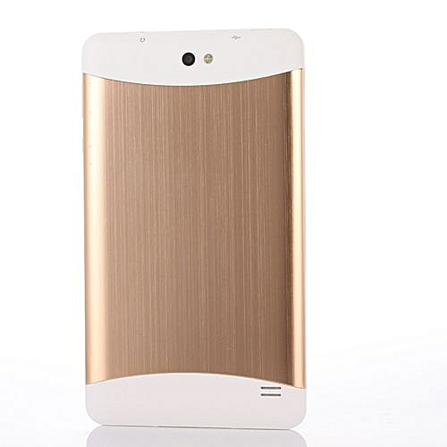 7 Inch Multi-color WIFI Quad Core Tablet PC 1024*600 Google Play Android 4.4 -Gold