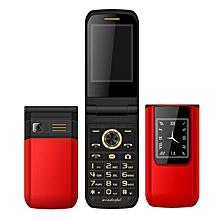 MAFAM E9 2.6'' 3800mAh Slim Fashion Flip Dual Touch Screen Dual Sim Card Dual Standby Feature Phone