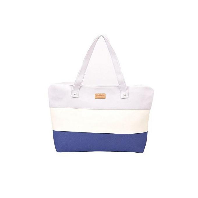 e0e576f69d Ladies Student Stripes Canvas Shoulder Bags Messenger Shopping Beach  Handbag Totes