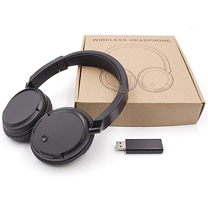 Wireless Headset For TV PC Computer MP3 TV Over-Ear Headset Support FM  Function With USB Transmitter (TV Headset Wireless)