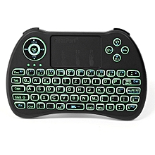 iPazzPort KP-810-21Q 2.4G Wireless German Three Color Backlit Mini Keyboard Touchpad Air Mouse