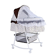 Metal Baby Crib Rocking Bed Baby Cradle Cot (Big size) & Baby Stroller With Fabric Mosquito Net Infant Crib Baby Bed with a Matress