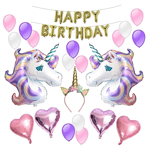 Unicorn Balloons Birthday Party Supplies For Kids Decorations Baby