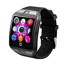 Q18 Smart Watch Phone - 128MB ROM - 64MB RAM - 4MP Camera -Single SIM - Black