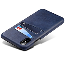 iPhone X/Xs Genuine Leather Case Protective Ultra Thin Hard Back With Credit Card Slots