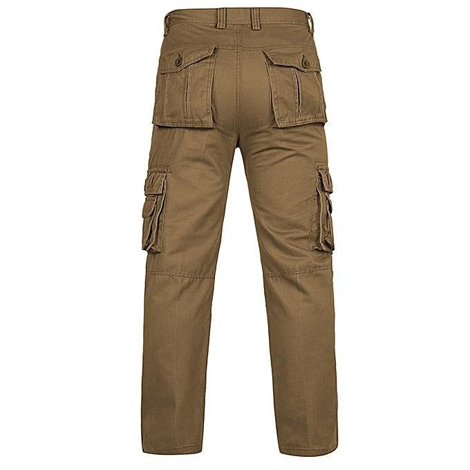 892b14b75ce Fashion Leadsmart Straight Leg Pockets Design Plus Size Cargo Pants ...