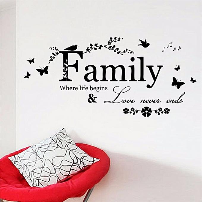 Buy Generic Family Flower Vine Wall Stickers Innovative DIY PVC ...