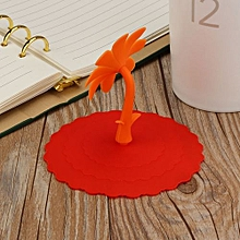 Hot Cute Sunflower Lace Dust Reusable Silicone Cover Cup DIY Free Splicing-Orange