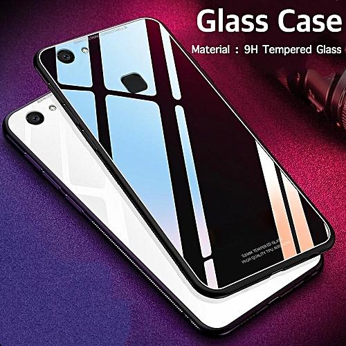 buy popular 46394 8cba9 Glass Case For VIVO V7 PLUS Case HD Clear Full Protection Tempered Glass  Back Cover For Vivo V7 Plus Housing