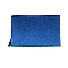 Card Holder  Aluminium Wallet  Credit Card  Pop up Card Holder- Blue