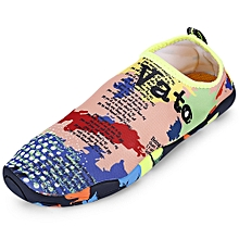 Outdoor Round Toe Quick-dry Breathable Flat Heel Slip-on Men Water Shoes-MULTI