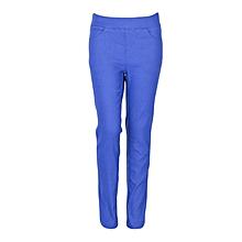 Girls Blue Fitting Cotton Stretch Pants