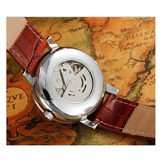 b2d1207aaaa GOER full-automatic machine male style the watch Lou get empty deeply bottom  leather belt