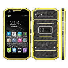 Proofing W7 1GB+16GB IP68 Waterproof Shockproof Dustproof 5.0 Inch Android 5.1 MTK6735 Quad Core 4G Smartphone(Yellow)