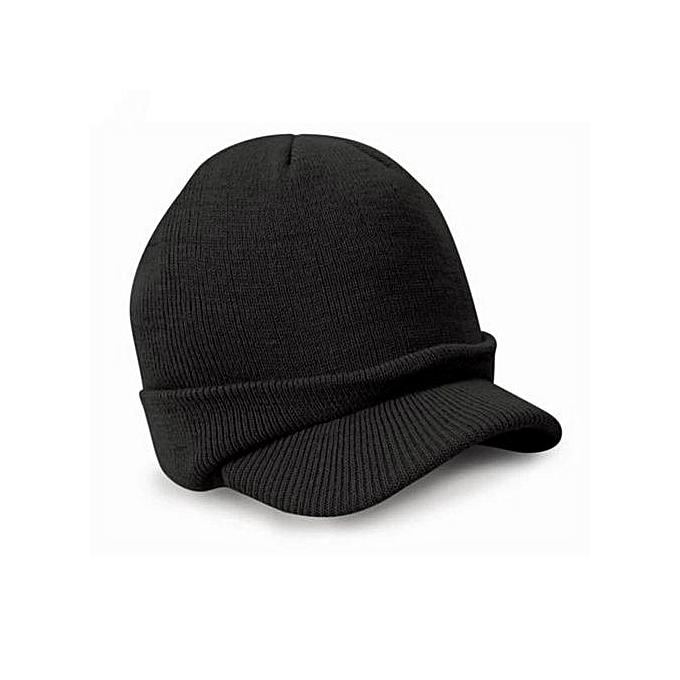 Zetenis Esco Peaked Army Beanie Hat Warm Wooly Winter Mens Ladies Cadet Ski  Cap BK - d11571e9a93