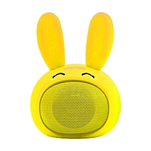 BUNNY -Yellow Promate Kids Bluetooth Speaker, Portable Wireless Bluetooth V4.1 Speaker with HD Sound Quality, Hands-free call function and Cute Bunny Design for Bluetooth Enabled Devices