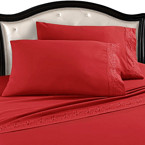 Premium Egyptian Cotton Bed Sheets Set, Red