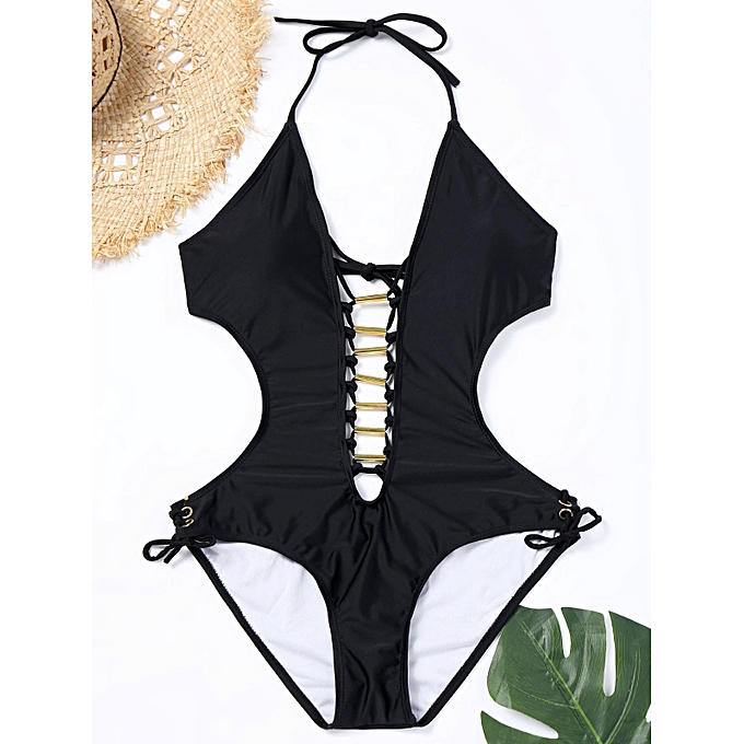 c7af8c15a Fashion Lace-up Backless One Piece Swimsuit @ Best Price | Jumia Kenya