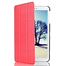 """For Samsung Tab E 8.0"""" Case, Ultra Slim Hard Case + PU Leather Smart Cover Stand For Galaxy Tablet SM-T377, Red"""