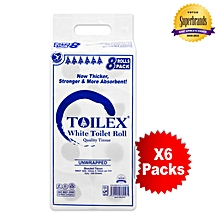 2 Ply Premium Unwrapped White Toilet Tissues - 8 x 6 Packs in a Bale
