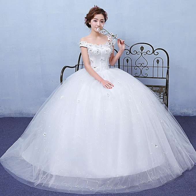 Wedding Dresses Classic Ball Gown White