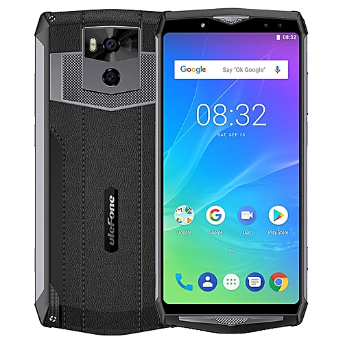 POWER 5S 4GB RAM 64GB ROM MTK6763 2.0GHz Octa Core 6.0 Inch Incell FHD+ Screen Quad Camera 13000mAh Android 8.1 4G LTE Smartphone - Black