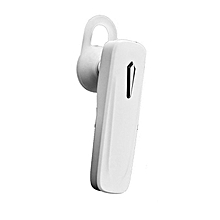M163 Mini Bluetooth Earphone Stereo Single Headset Wireless Headphones White