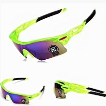 Explosion-proof Outdoor Cycling Sports Sunglasses(Green+Purple)