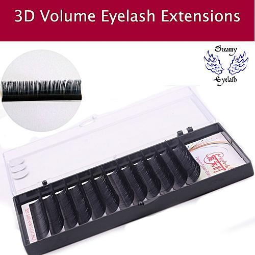 102a14ff476 Generic 12Lines/Tray B/C/D Curl Eyelash Extension 3D Korea Silk Volume Eyelashes  Makeup Natural Lashes Artificial False EyelashesCurl: D Thickness: 0.07mm