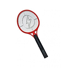 Rechargeable Electronic Mosquito Racket - Red And Black