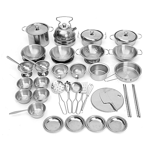 Buy Generic 40pcs Stainless Steel Kitchen Cooker Set Toys Child Kids