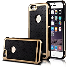Luxury Metal Bumper Silicone/Gel/Rubber Case Slim Cover for iPhone 6S plus GD-Gold