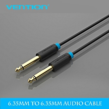 """Vention BAABF 1M Gold Plated Premium 6.35mm Mono Jack 1/4"""" TS Cable Unbalanced Guitar Patch Cords Instrument Cable Male to Male Mixer Amplifier Aux Cable (Black) GOODHD"""