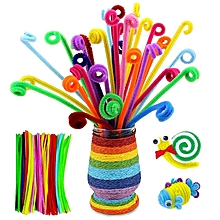 100pcs/lot bendaroos Montessori Materials Math Chenille stems Sticks Puzzle Craft Children Pipe Cleaner Educational Creative Toy