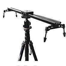 Commlite Portable 60cm 24 Inch Sliding-pad Video Track Slider Stabilizer System For DSLR Camera Black