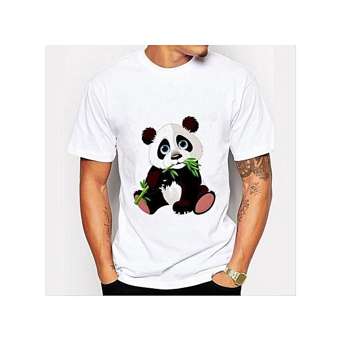 Panda Bamboo Men s T-Shirts Print T-Shirts FASHION O-Neck Men s Clothing 6a64bd6bbdf