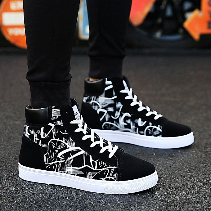 a1c2b5dc1c Men's Shoes Vans Casual Sneakers High Tops Board Shoes Flat  Shoes-Black&White