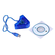 Elegant Dual PS2 Controller Game Console USB Converter Adapter BL