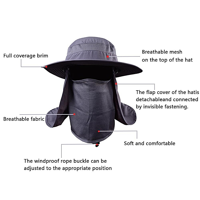b6473b2e56410 ... Hat Fishing Sun Hat Quick-drying Full Coverage Sun Hat Protection With  Removable Neck Flap