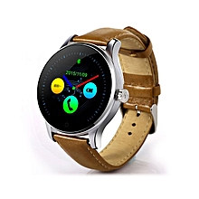 Smart Bluetooth Watch Heart Rate Monitor Smartwatch K88H For IOS/Andriod - Brown