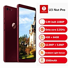 U3 Nut Pro 2 4G Phablet 5.99 inch 4GB RAM 64GB ROM- WINE RED