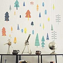 Nordic Cartoon Forest Diy Art Living Room Decorative Wall Paste Pvc Self-adhesive Pastoral Children's Room Wallpaper