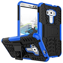 "ZE552KL Case, Hard PC+Soft TPU Shockproof Tough Dual Layer Cover Shell For ASUS [5.5"" Zenfone 3], Blue"