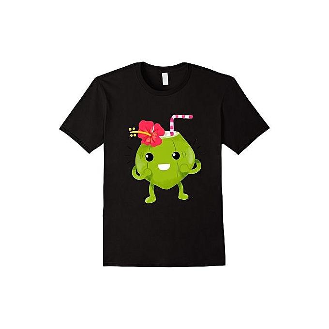 bb9d58f12 Green Coconut Drink Cute Fruit T-Shirt Cheap Fashion Short Sleeved Men Funny  T Shirts
