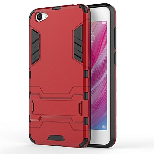 For VIVO Y55 Case Luxury Hybrid Silicone Iron Man Armor Case Cover For VIVO  Y55 Full Protect Phone Housing Shock Protection Back Cover Handphone