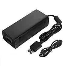 TA  Mini Sealed AC Brick Adapter Power Supply for Xbox 360 Slim With Charger Cable Black Black