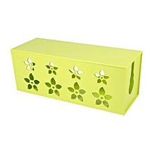 【clearance Sale+ready Stock】Wire Cable Management Tidy Organiser Storage Box (Green M)