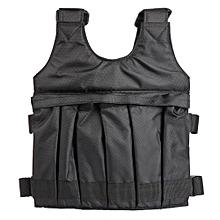 50kg Max Loading Weighted Vest Adjustable Jacket Exercise Boxing Training Waistcoat
