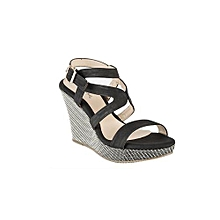 Black Women's Sandals With Straps
